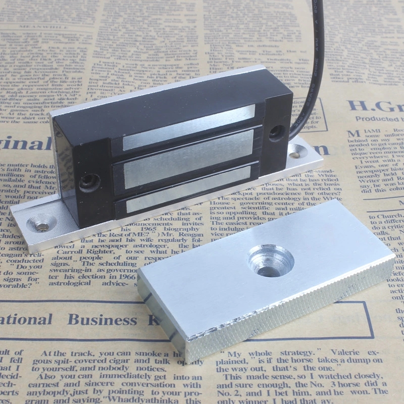 Aluminum 100Lbs 60kg 12V Embedded Magnetic Lock Electromagnetic Lock Cabinet Lock Door