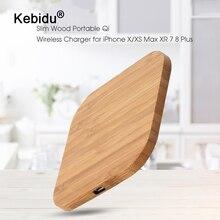Kebidu портативное 5 Вт Qi Беспроводное зарядное устройство тонкая деревянная подкладка для Apple iPhone 7 8 Plus смартфон Беспроводная зарядная подставка для samsung S7