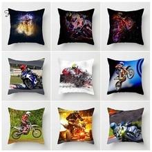 Fuwatacchi мотоциклетные Чехлы для подушек, спортивные Чехлы для подушек, для домашнего дивана, декоративные льняные мягкие Квадратные аксессуары, наволочки