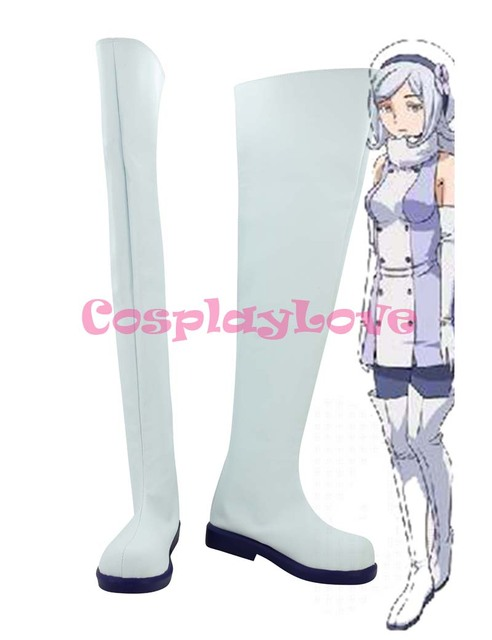 Gundam Build Fighters Aila Jyrkiainen White Cosplay Shoes Boots Hand ...