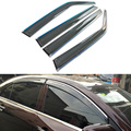 4pcs/lot Car Styling Vent Shade Sun Rain Guard Cover Window Visor For Geely Emgrand EC7 2013 2014 Accessories High Quality
