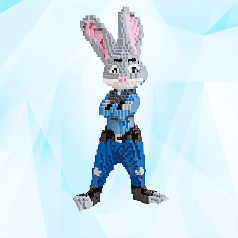 2017 Time-limited Sale DIY Extra Large Cute Rabbit Assembly Micro Building Nanoblock Educational Toys For Both Adults And Kids hot sale 1000g dynamic amazing diy educational toys no mess indoor magic play sand children toys mars space sand