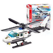 102pcs Air Force plane DIY Bricks Compatible all brand Police Helicopter Building Blocks Boy's Brinquedo Toy Kids Birthday Gift(China)