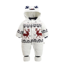 JOYINPARTY 2018 Rompers Winter Thick Warm Baby boy Clothing