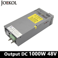High Power Switching Power Supply 1000W 48v 20A Single Output Industrial Grade Power Supply AC110V 220V