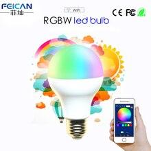 AC85-240V 5 W 7 W 9 W RGBW WIFI LED Bombilla Colorida Regulable Led Soporte IOS/Android APP Control E27 E26 B22 de La Lámpara LED