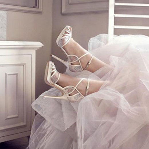 ФОТО 2017 new style ultra high heels bride wedding shoes stiletto heel peep toe women pumps suit to summer white can choose