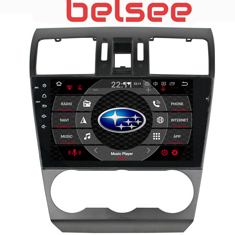 Belsee Octa Core PX5 Android 9.0 64GB Head Unit GPS Navi HD Radio Multimedia for Subaru Forester WRX XV 2013 2014 2015 2016 2017 image