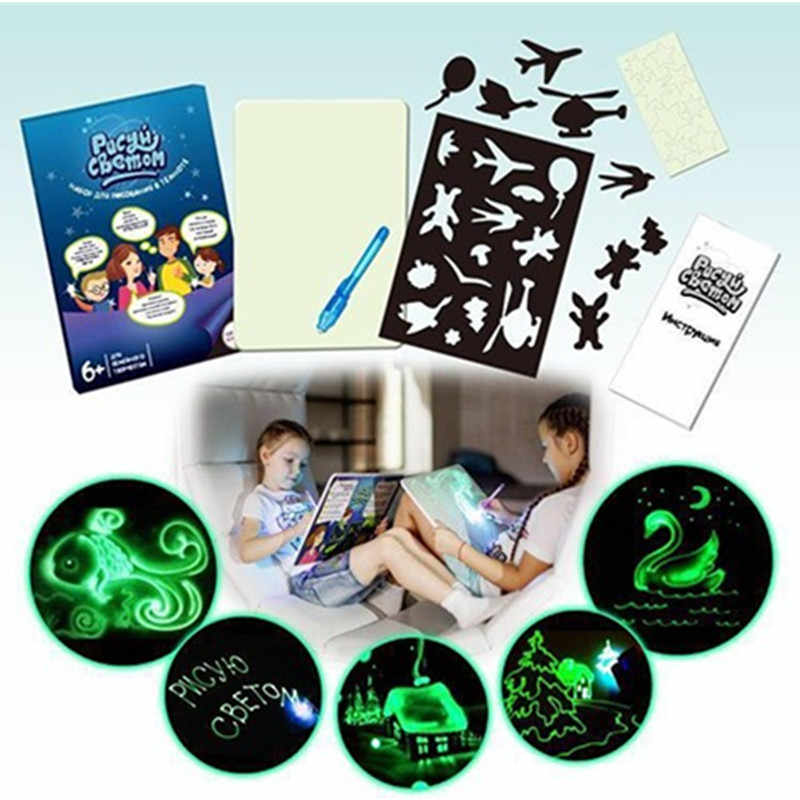 Draw Light Glow In The Dark A4 Drawing Board Writing Magic