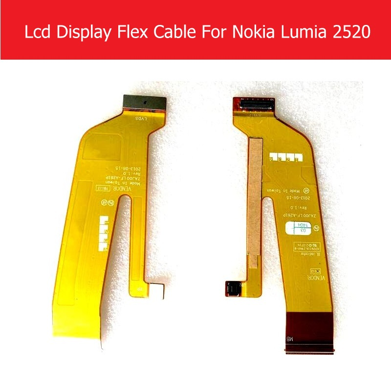 Weeten Genuine LCD Panel Flex Cable For Nokia 2520 LCD Display Flex cable For Microsoft Lumia 2520 Screen LCD PCB replacement tablet lcd flex cable for microsoft surface pro 5 model 1796 lcd dispaly screen flex cable m1003336 004