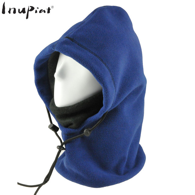 0bd959d496a Multifunction 6 in 1 Fleece Hood Hat Balaclava Cover Head Face Neck Scarf  Hat for Women