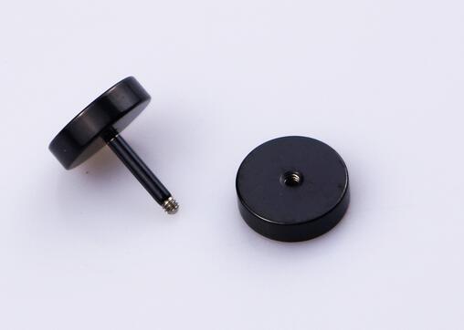 Черный круговой Титана Штангу серьги стержня для человека гантели Двусторонняя серьги уха Pier оптовая продажа {2 пары 4 шт.} серьги наборы