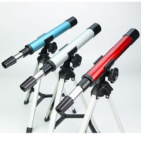 30X Monocular Mini Refractor Telescope with Portable Tripod Children Kids Outdoor Sports Travelling Educational Gift