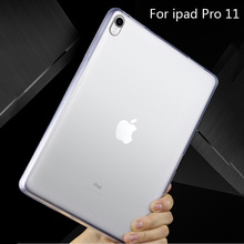 Tablet Case For ipad pro 11 inch 2018 Slim Matte models TPU Silicone Protective Back Cover For Apple Ipad pro 11 inch cases for ipad pro 9 7 inch ultra slim smart cover leather case with matte translucent back case for apple ipad pro no iprs4