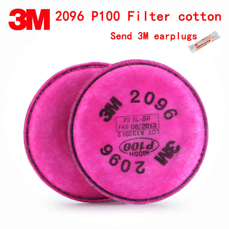 3M 2096CN P100 respirator mask filter Genuine security 3M Filter cotton against Acid gas dust particulates Welding dust filter цены онлайн