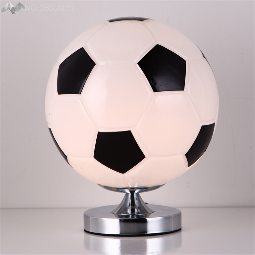 America Modern Gl Ball Table Lamps Soccer Desk Lights For Children Room Bedside Bedroom Decor Writing Reading Fixture In From