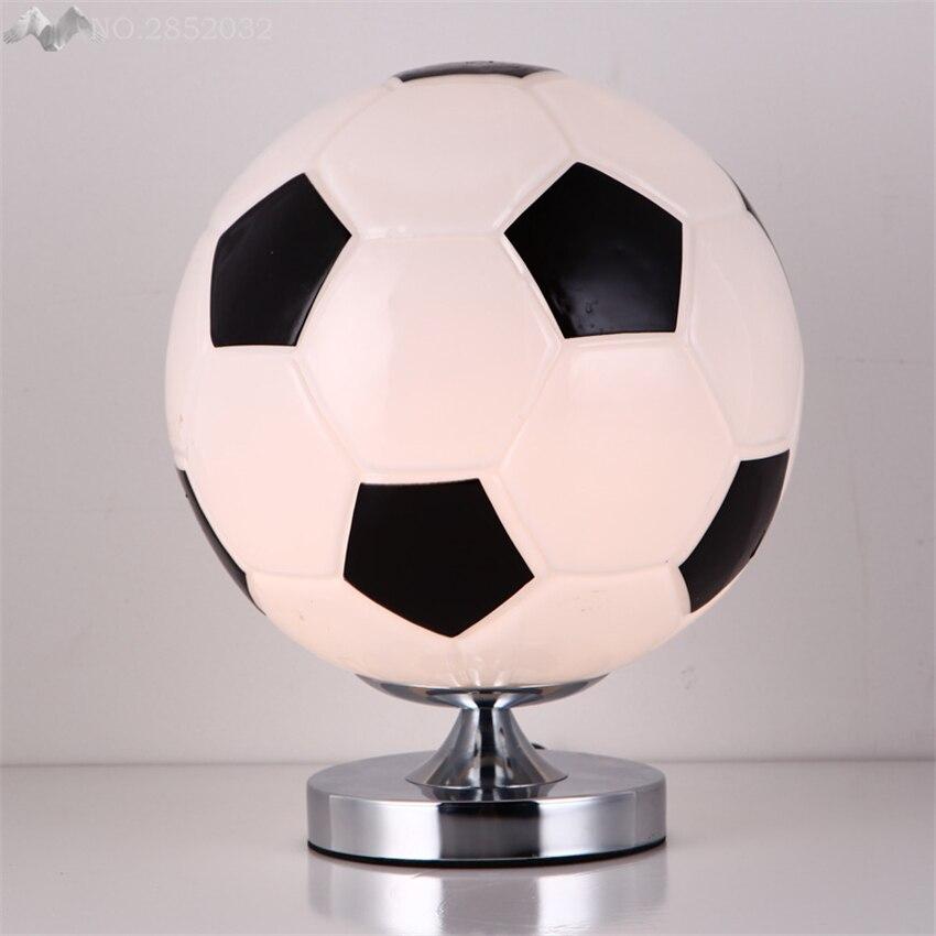 Heico Soccer Ball Lamp: America Modern Glass Ball Table Lamps Soccer Desk Lights