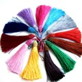 12Pcs mixed color tassel fringe hanging ear beads diy sofa wedding Bag Shoes Cloth curtain accessories fabric