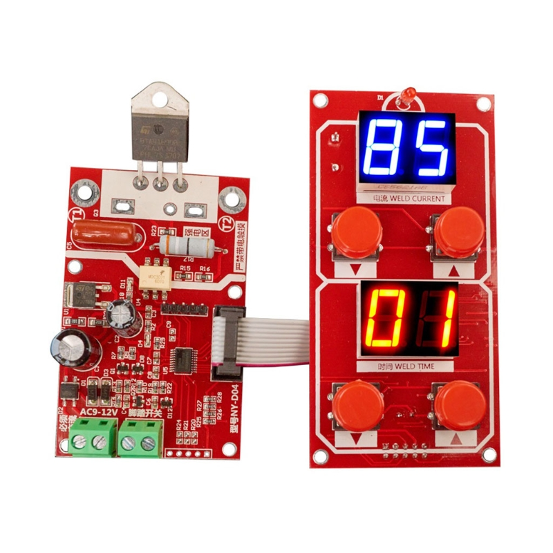 Sincere Ny-d04 Diy Spot Welding Machine Transformer Controller Control Panel Board Adjust Time Current Digital Display Buzzer Led Pulse Audio & Video Replacement Parts