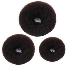 3 шт. губка Для женщин волос Bun Кольцо Donut Shaper чайник 3 Размеры g6620