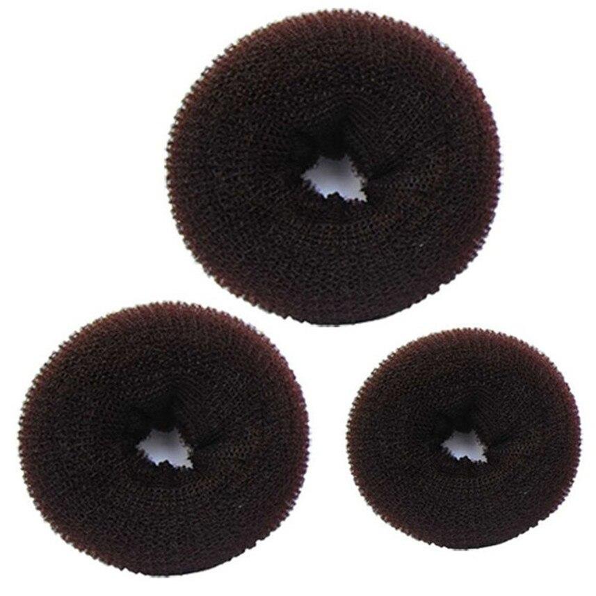 3 Pcs Sponge Women Hair Bun Ring Donut Shaper Maker 3 Sizes G6620