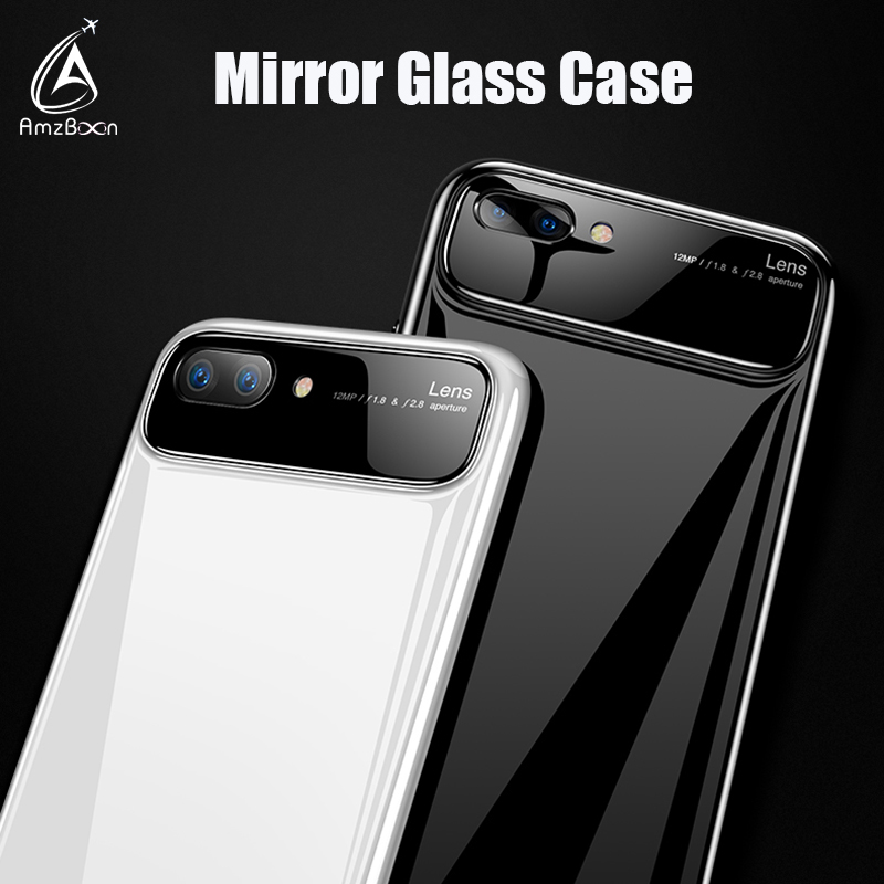 AmzBoon Luxury Slim Anti-scratch Glass Protector Cover Shell For Huawei Honor 10/Nova 3E Phone Shiny Painting Bag Silicone Case