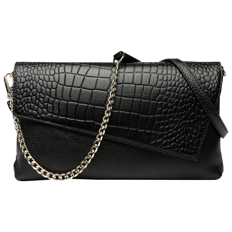 Fashion Soft Genuine Leather Alligator Evening Clutches Clutch Purse Women's Shoulder Bag Ladies Wristlet Handbag Cover Wallet vintage serpentine genuine leather woman clutches evening bag crossbody chain shoulder bag handbag clutch wallet lady long purse
