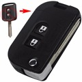 Flip Folding Remote Key Shell Car Case Fob Cover for Qashqai Nissan Micra Navara Almera Note 2 Buttons With sticker