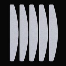 5 Pcs Half-moon Shape Nail Sanding File Buffing Tool Set Double-sided Stick Manicure Nail Tool Kit