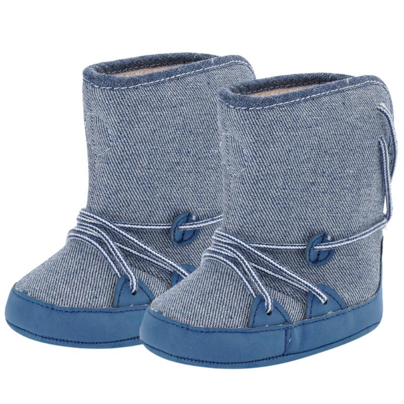 Cute Baby Shoe Baby Boy Winter Warm Snow Boots Lace Up ...