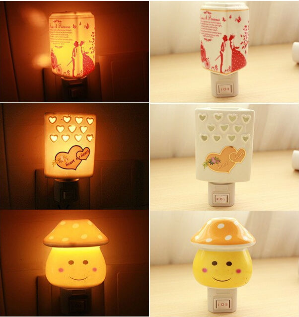 Scent Shop Night Lights: Led Ceramic Fragrance Lamp Incense Baby Night Light Aroma