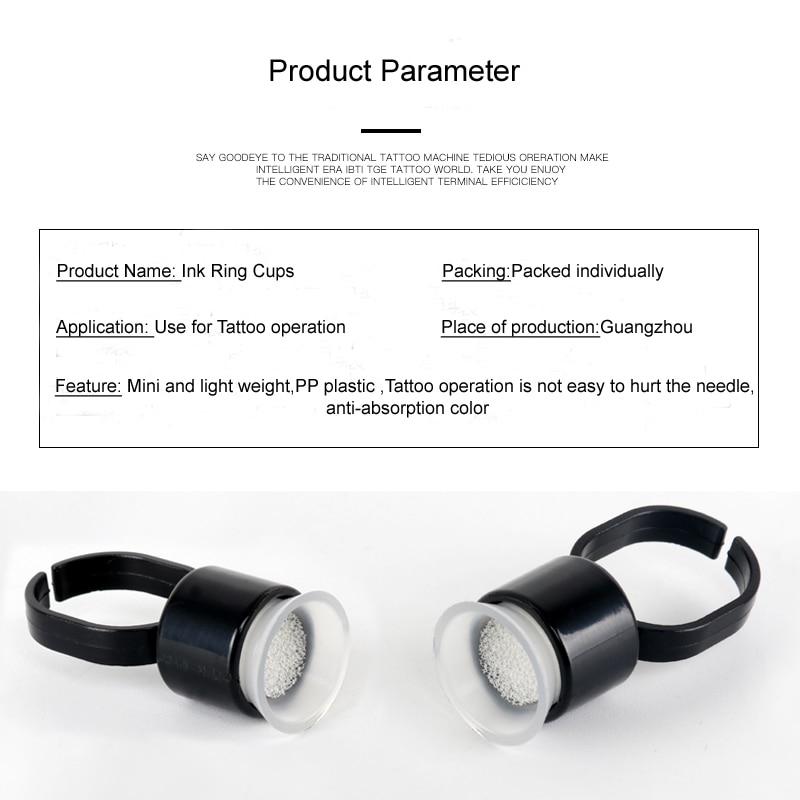 50st Tattoo Supply Ring Cups Gereedschap Microblading Pigment Houder - Tatoeage en lichaamskunst - Foto 4