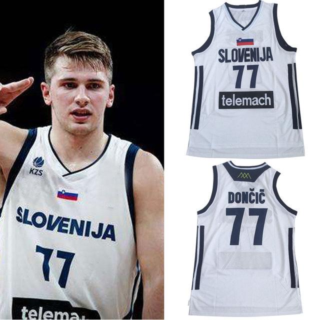 19cec53e64b Mens  77 Luka Doncic Jersey Cheap Throwback Basketball Jersey slovenija  Team Retro Stitched Shirts BASKET Sports JERSEYS