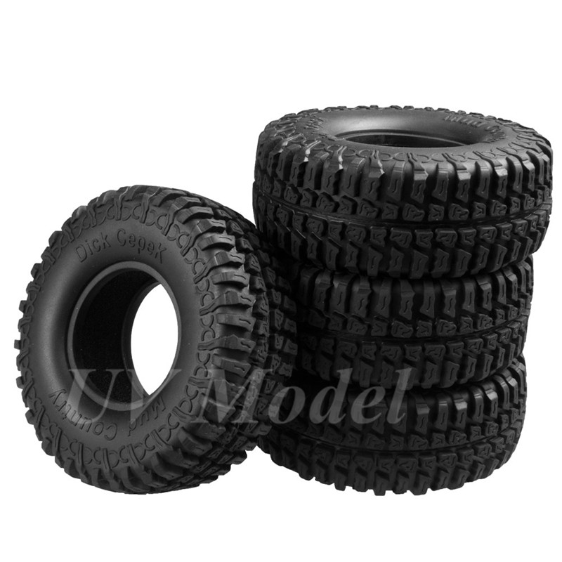 4pcs RC Crawler 1:10 Wheel Rubber Tires 1.9 Crawler Tyres 100mm for tamiya cc01 RC4WD AXIAL SCX10 1/10 RC Rock Truck Car Tyres 1 10 rc crawler 1 9 rubber tires