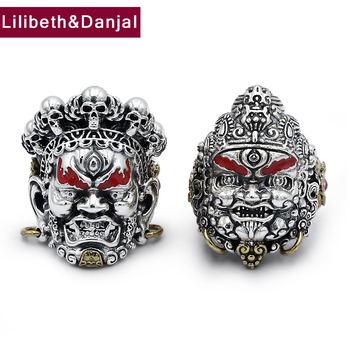 2019 Street Culture God of wealth Adjustable Rings 100% 925 Sterling Silver jewelry Men accessories Ring wholesale lots bulk R02