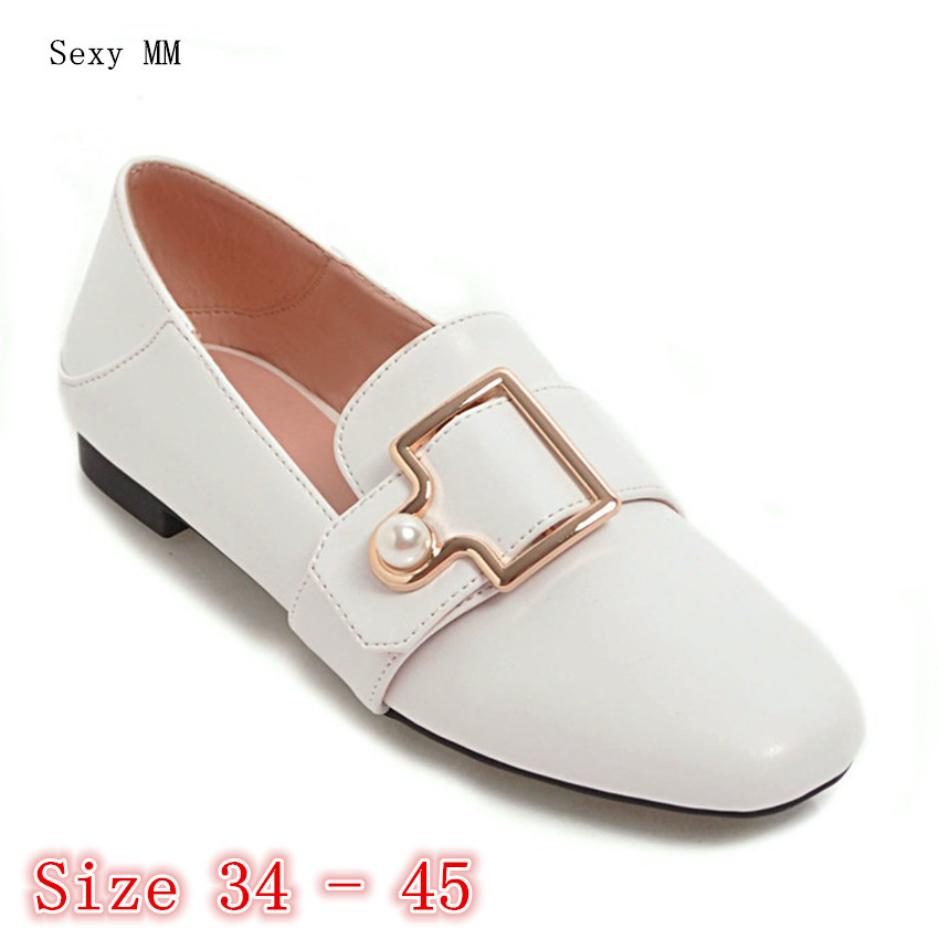 Women Oxfords Slip On Shoes Loafers Flats Woman Casual Flat Shoes High Quality Plus Size 34 - 40 41 42 43 44 45 spring summer flock women flats shoes female round toe casual shoes lady slip on loafers shoes plus size 40 41 42 43 gh8