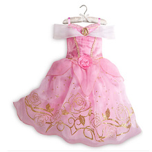 Grils Dresses Princess Christmas Kids Dress Cinderella Rapunzel Aurora Party Cosplay Halloween Costume Children Clothing(China)