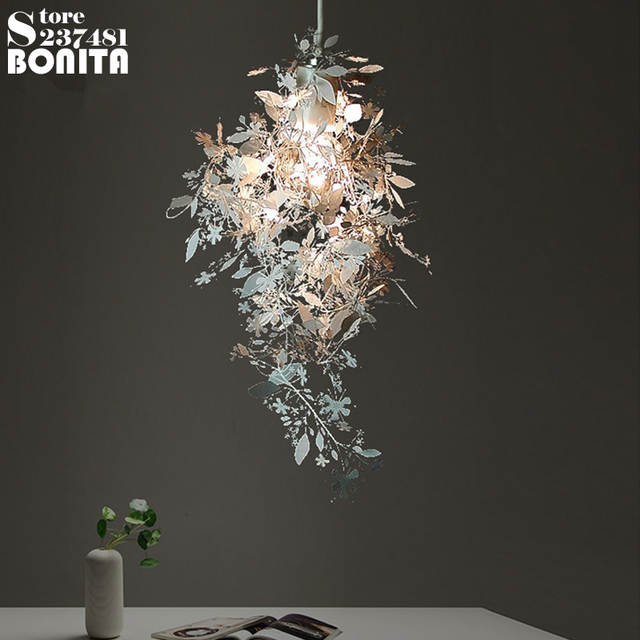 US $51 87 40% OFF|Artecnica Garland Light pendant lamps modern design Laser  cutting carved flowers Stainless steel pendant lights for restaurants-in