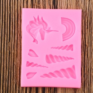 Image 3 - Cake Tools Unicorn Cloud Horn Ear Silicone Mold Decorating Cupcake Decorating Gumpaste Fondant Tool Mould Chocolate Candy Molds