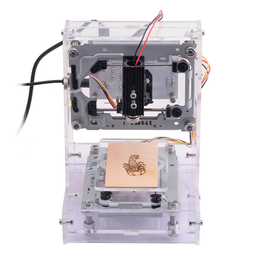 1pc mini CNC  machine DIY  plastic,  acrylic, pvc, pcb, wood or the like materia or the like material+500mw laser