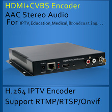 HDMI + CVBS Composite BNC Vidéo Codeur soutien Youtube Facebook Contraction Ustream LiveStream Vivre Diffusion en continu via RTMP