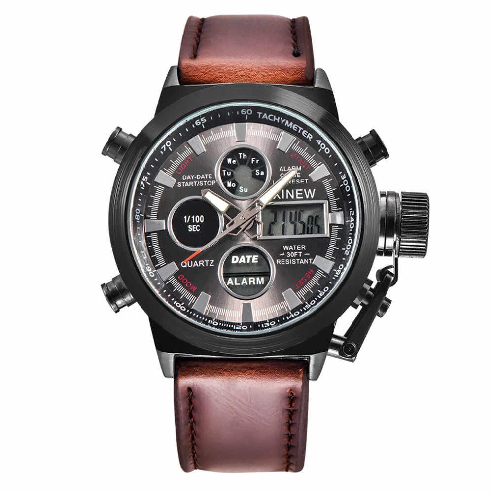 メンズ腕時計メンズ軍事陸軍 Led 腕時計アナログステンレス鋼腕時計時計 2018JUL17
