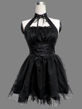 Vestido Lolita negro 11ª de Halloween Cosplay