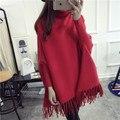 Высокое качество Кашемира одежды Для Беременных свитер пуловер верхняя одежда осень-зима топ свободные мода плащ средней длины свитер