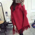 High quality Cashmere Maternity clothing sweater pullover outerwear autumn winter top loose fashion cloak medium-long sweater