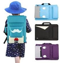 8K Kids Art torba na A3 tablica do pisania zestaw farb torba podróżna szkic na obraz na płótnie dla artysty plecak dla dzieci