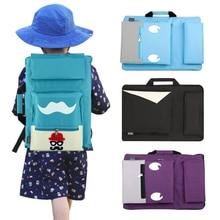 Bolsa de arte para niños de 8K, conjunto de pintura para tablero de dibujo A3, bolsa de dibujo de viaje para pintura en lienzo, suministros de arte para niños, mochila de artista