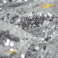 Wholesale Cheap 50 Yards Glitter Silver Sequin Fabric High Quality 3mm Sequin Fabric For Sequin Backdrop