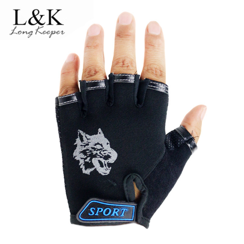 Cool Sports Childrens Gloves Wolf Print Outdoor Riding Gloves 2018 Hot Sale Non-Slip Breathable Mittens for 5-13 Years Kids