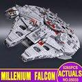Lepin 05033 5265 Pcs Star Wars Ultimate collector Millennium Falcon Modelo Blocos de Construção Kit Bricks Toy Presente Compatível 10179